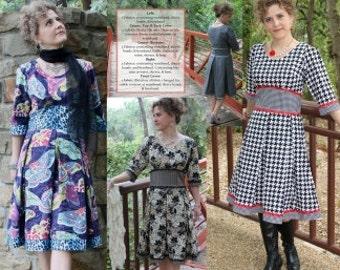 Sewing Pattern, The Zoe Dress Sewing  Pattern by  Kay Whitt