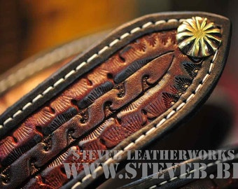 "The Moloch - a 1.75"" wide custom leather belt - Unisex, Mens or Ladies Custom Handmade Leather Belt"