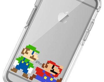 8 Bit Mario, Luigi, Nintendo  Phone Case, iphone 6 Case, iphone 7 Case, iphone 6 plus Case, iphone 7 plus, iphone X Phone Case, iphone 8,