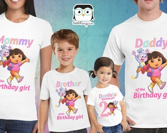 Dora The Explorer Birthday Shirt, Dora Birthday Shirt, Dora shirt, Dora Party, Dora the Explorer party