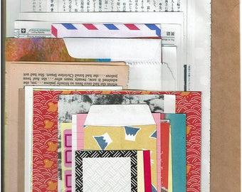 Over 100 pieces random paper goodies, journaling,Junk journal supplies, scrapbooking ,collage materials,vintage paper,art journal