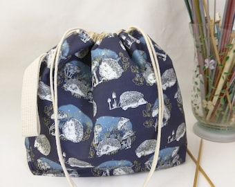 Medium Super Draw Project Bag - Hedgerow MADE TO ORDER