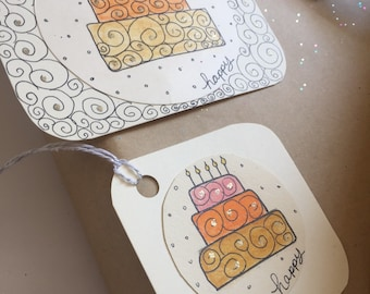 Birthday Note and Gift Tags, 8/pack, Perfect for an Extra Special Touch