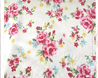 Floral Cotton Fabric Metre Fat Quarter Limited Crafting Sewing Fabric Material Handmade Projects Quilting Sewing Projects