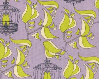 Tina Givens, Birdcage Quiet Lilac 100% Cotton Fabric