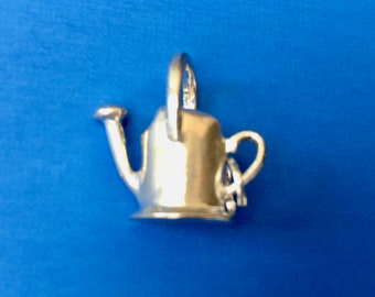 Cute Little Sterling Silver Watering Can Charm