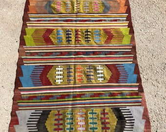 "98"" x 52"" Antalya nomad kilim, oerlon rug, rug, vintage rug,deco rug"