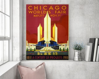 Art Print: Chicago World's Fair Poster