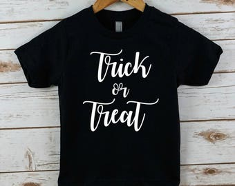 Kids Halloween shirt, girls shirt, trick or treat shirt, toddler shirt, halloween t shirt, halloween shirt, halloween, trendy, infant, girl