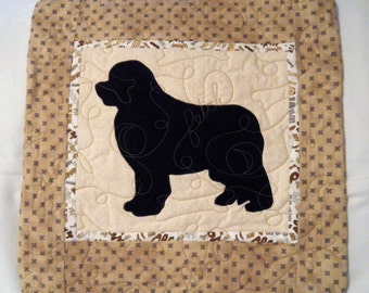 Quilted Dog throw pillow - Newfoundland
