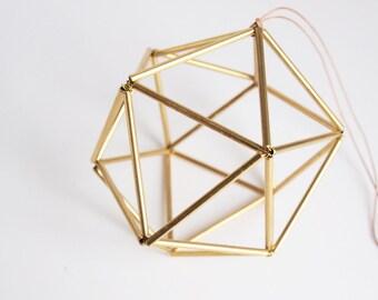 Himmeli Brass Orb // Scandinavian Geometric Ornament // Gold Decor // Perfect Gift Idea // Wedding Decor // Home Decor // Modern Style