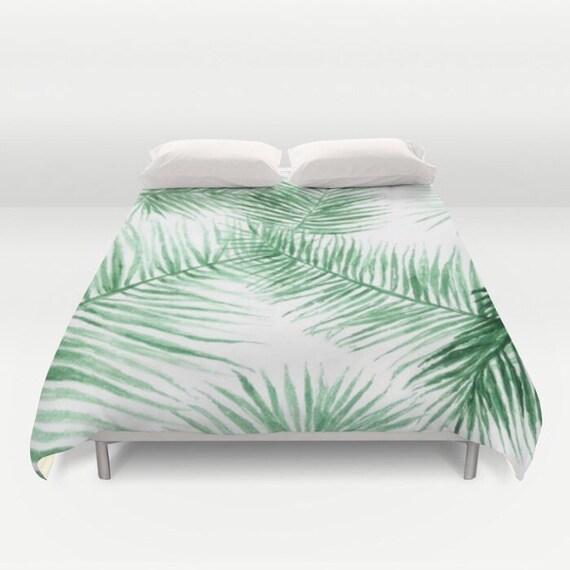 palmier feuille housse de couette couette de feuille de. Black Bedroom Furniture Sets. Home Design Ideas