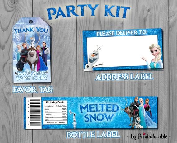 Frozen Party Set - Frozen Party Kit - Frozen Birthday - Frozen Label - Frozen Tag - Frozen - Frozen Printables - Elsa Party Set