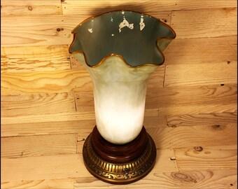 Sea Green Glass Table Lamp