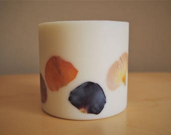 Pansy Soy Wax Pillar Candle (Large)