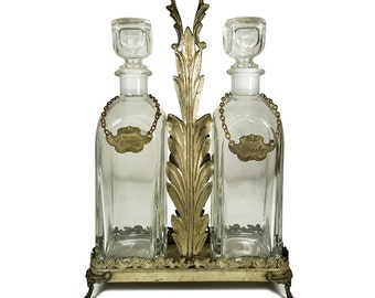 Attractive Vintage Decanter Set Home Decor Liquor Decanter Set Vintage Barware Italian  Barware Art Deco Barware Liquor