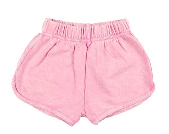 Girl's French Terry Short, Baby Girl shorts, Girl's Shorts, Baby Shower, Baby shorts, Baby clothes, Seashell El Sol Short by Feather 4 Arrow