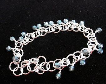 Bracelet tutorial - chainmaille kit - bracelet pattern - bracelet kit - chainmail kit - chainmaille tutorial - crystal bracelet kit