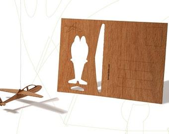 postcard wood - glider, three-card-set