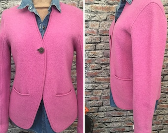 Vintage Elieen Fisher Boiled Wool Jacket In Orcid/Violet  Size Small