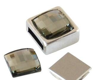 Swarovski® SWAROVSKI element 2493 - 10mm - Square - Black Diamond F - CABSW17GRI0172