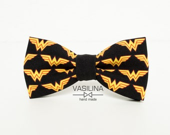 Wonder Woman Logo Bow tie, DC, Marvel, Superhero