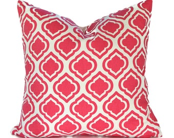 Orange Pillow Covers ANY SIZE Decorative Pillow Cover Orange Pillow Premier Prints Curtis Candy Pink