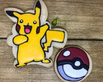 Pokemon Cookies Party Favor Birthday Cookies Personalized Cookies
