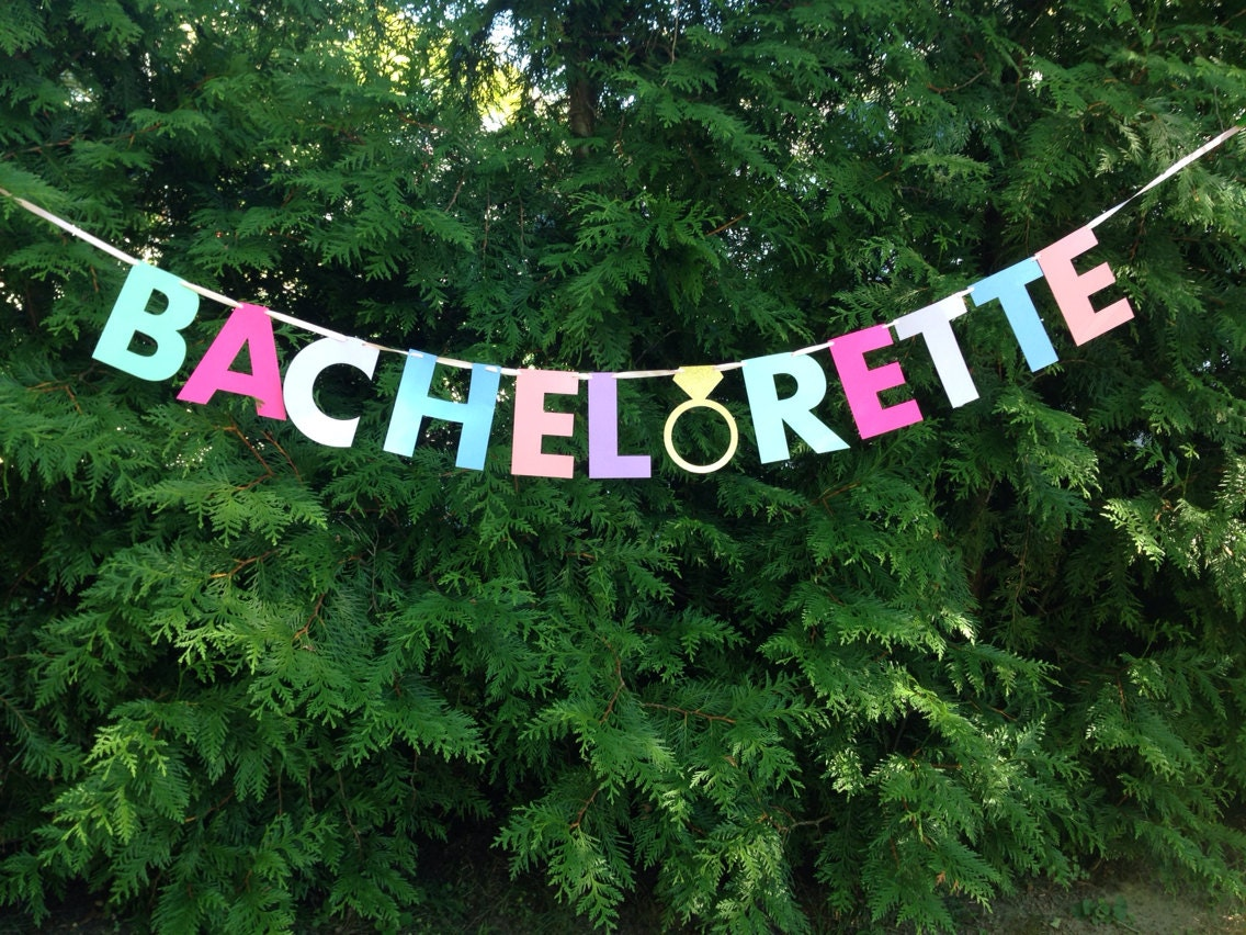 BACHELORETTE BANNER Pink Gold Mint Bachelorette Party