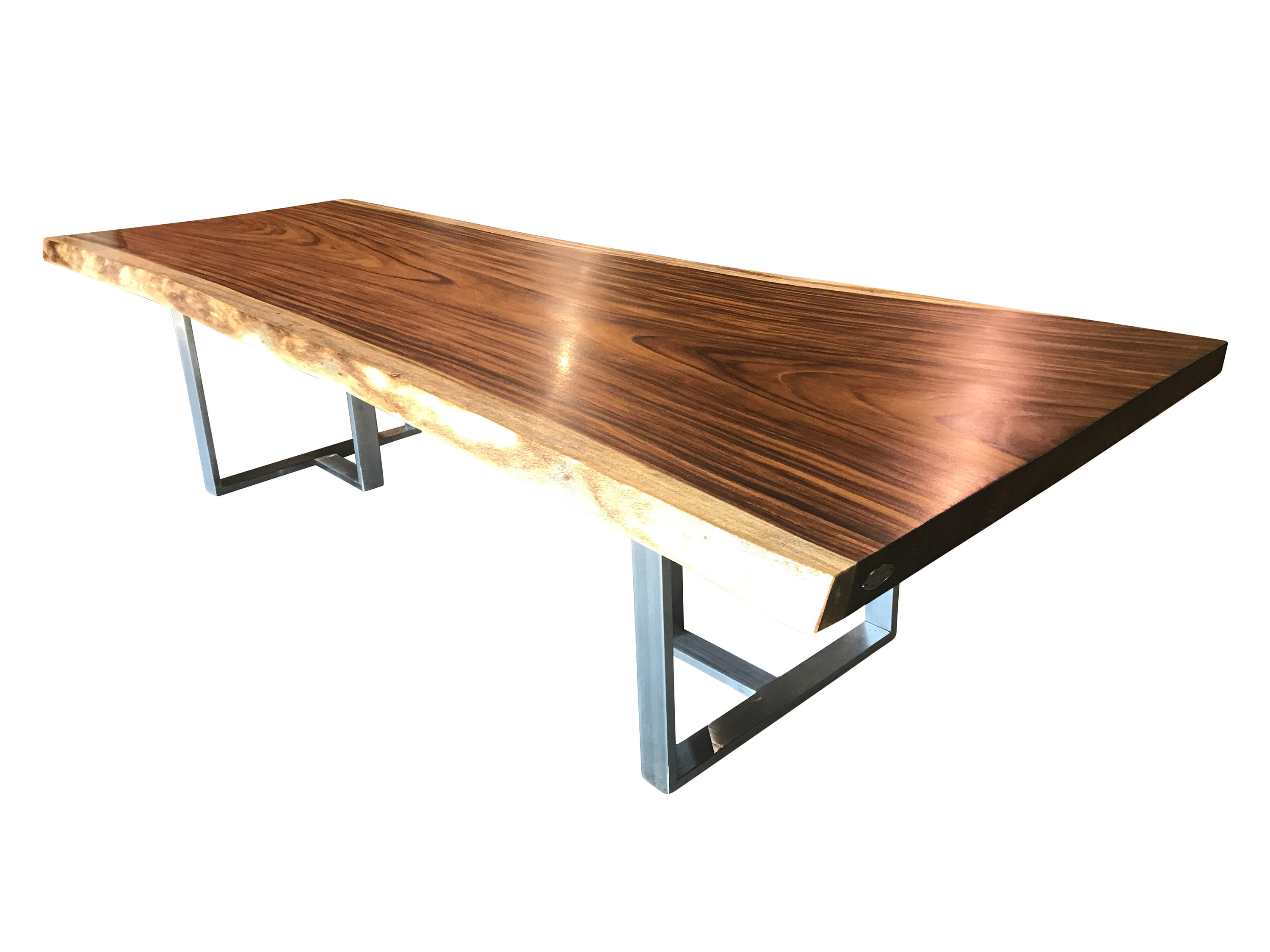 Live edge dining table, Live edge with steel legs, unique dining table, signature series, conference table