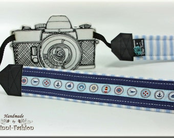 Camera strap, DSLR, light blue