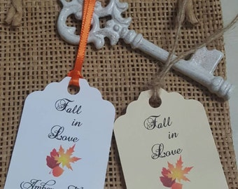 """Personalized Favor Tags 2.5""""L x1.8""""w, Wedding tags, Thank You tags, Favor tags, Gift tags, Bridal Shower Favor Tags, fall wedding favor tag"""