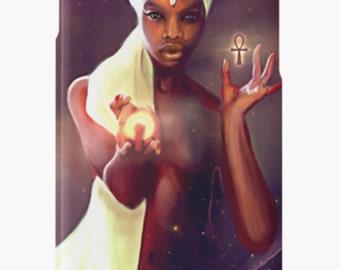 iPhone Case African American Goddess Black Girl Magic Afrofuturism by Sheeba Maya