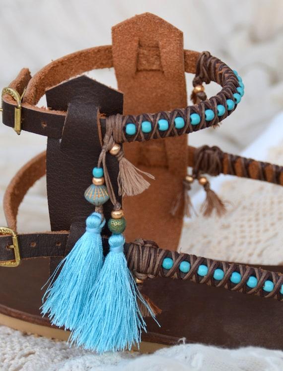 Gladiator Sandals Sandals Boho Shoes Leather Sandals Boho Beaded Sandals Sandals Greek Shoes Women Women Bohemian Sandals Sandals qvtFP