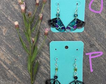 A Flutter Earrings, Snowdandi Arts, Alaska, Hand drawn