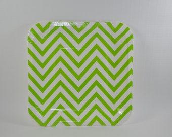 light and dark green floral pattern square magnet tiny art. Black Bedroom Furniture Sets. Home Design Ideas