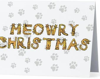5-PACK: Cat-Lover Christmas Card
