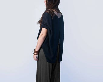 Palazzo Wide Leg Pants • Jersey • Wide Leg • Tall or Petite Length • Ethically made in our USA loft • L415 & Co Clothing (#415-30)