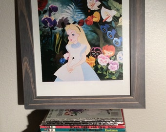 Alice in Wonderland wall art vintage print