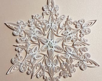 Extra Special Large Quilled Snowflake Ornament