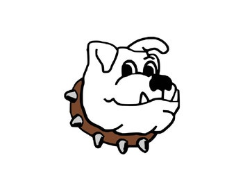 Bulldog Instant SVG Digital Download File Cutting Mascot Pet Puppy Dog
