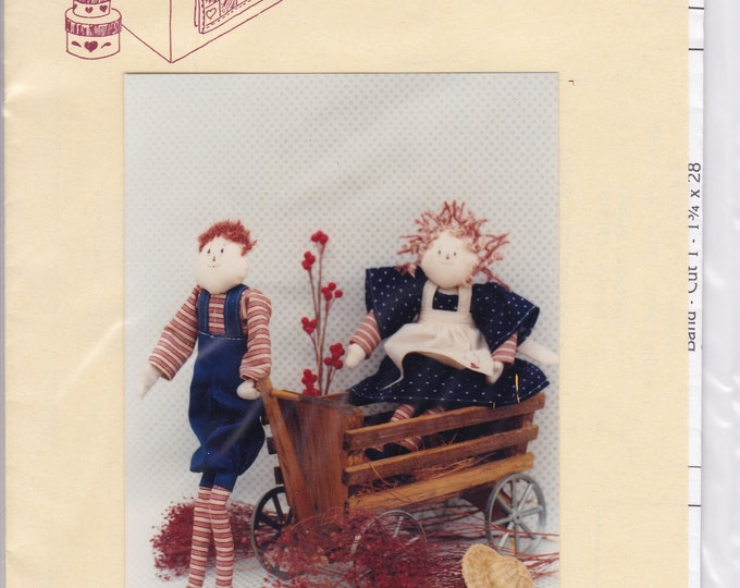 """FREE US SHIP Craft Sewing Pattern Twice as Nice Designs Raggedy Primitive  Folk Art Annie Andrew 11.5"""" 128 Uncut 1990"""