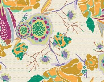 Boho Decor, Cotton Quilt Fabric, DIVINE GYPSY Ivory, Bijoux by Bari J Ackerman, Art Gallery Fabrics, By the Yard, Boho Floral Fabric