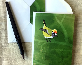 Firecrest – Blank Notecards for Bird Lovers with Envelopes
