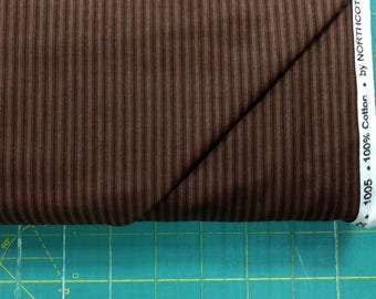 Stratford Park fabric. Brown stripe lines border quilting cotton quilters Northcott 2412