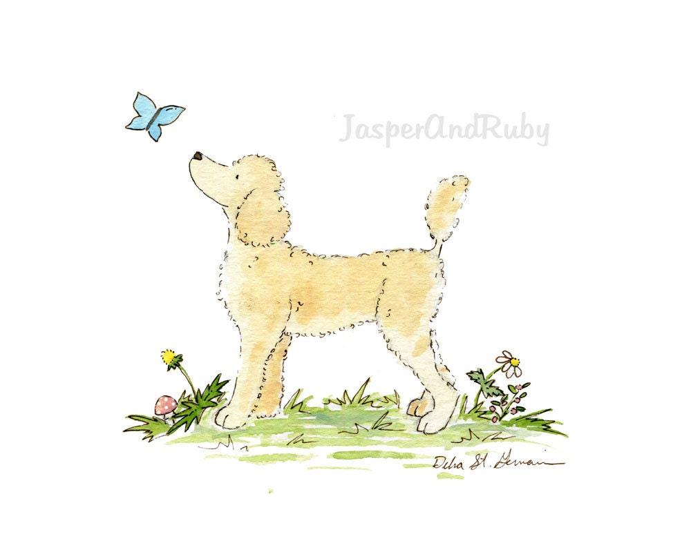 Poodle Art Puppy Nursery Art Nursery Print Dog Nursery