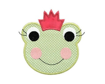 Princess Frog Applique Design