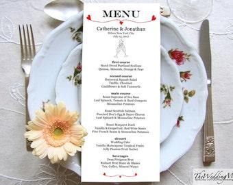 Editable Menu Template Wedding Menu Dinner Card Rustic Menu Printable Instant Download Editable PDF Wedding Printable Menu GLASSES01