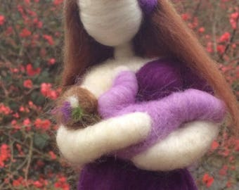 Made To Order ! You Pick Colors! Needle Felted Breast Feeding Mother Wool  Shower Gift Made To Order lactation breast milk new mom