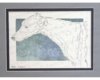 Greyhound Whippet Papercutting Art, Handcut Original
